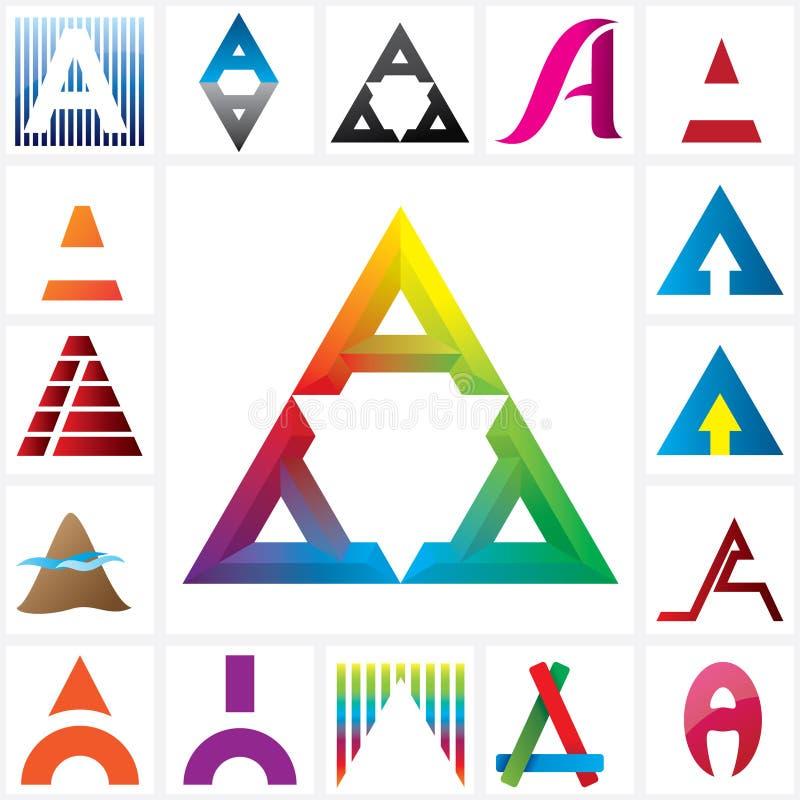 Segni un modello con lettere alfabetico di logo royalty illustrazione gratis