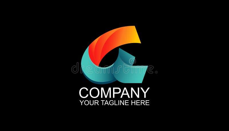 Segni un modello con lettere di progettazione di logo con il logo astratto, stile moderno per il biglietto da visita, insegna illustrazione vettoriale