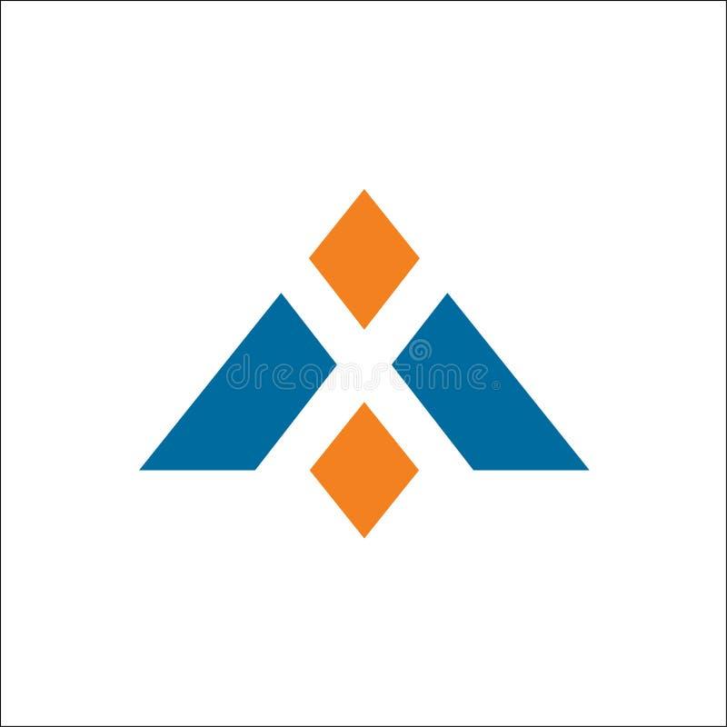 Segni un triangolo con lettere, illustrazione di vettore isolata illustrazione vettoriale