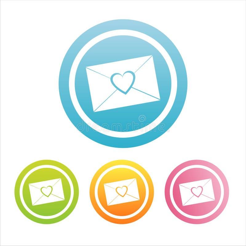 segni variopinti della lettera di amore royalty illustrazione gratis