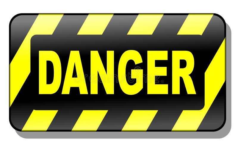 Segno 3d del pericolo illustrazione vettoriale