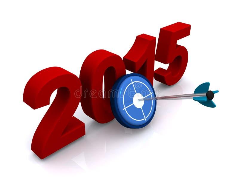 segno 2015 illustrazione vettoriale