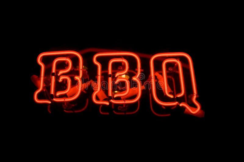 Segno al neon del BBQ immagine stock libera da diritti
