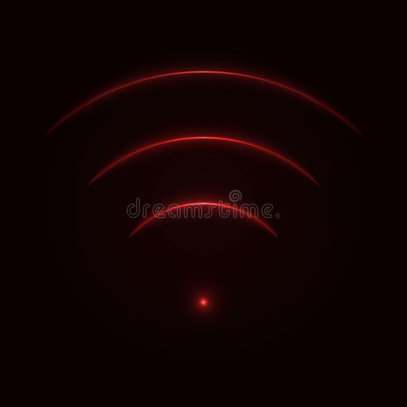 Segno al neon di wifi di incandescenza royalty illustrazione gratis