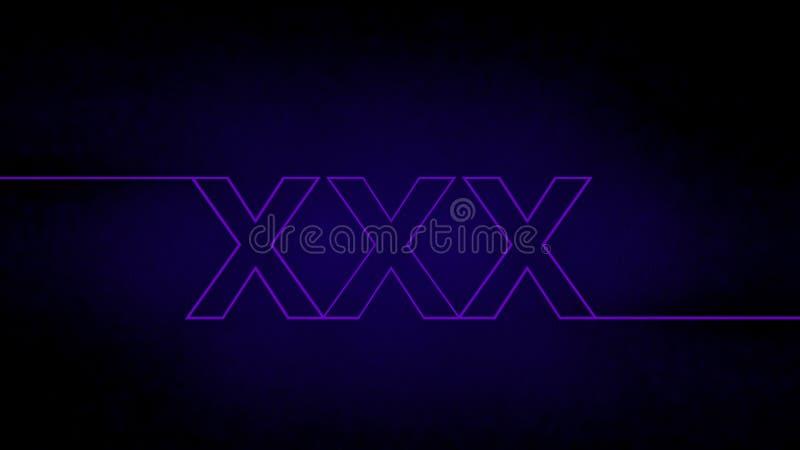Segno al neon XXX illustrazione vettoriale