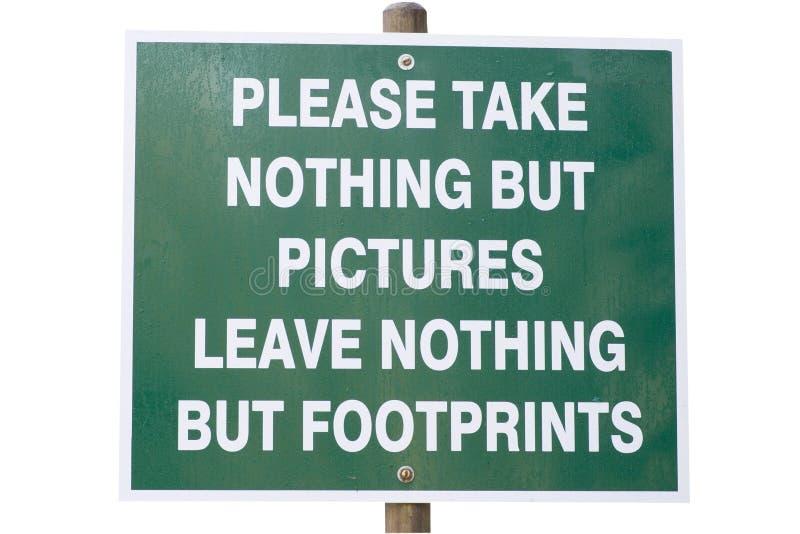 Segno ambientale di conservazione immagine stock libera da diritti