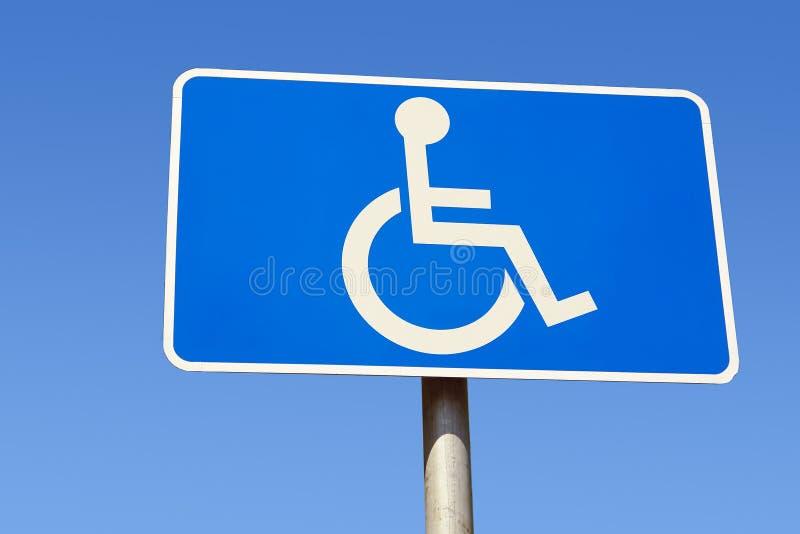 Segno andicappato del parcheggio fotografia stock libera da diritti