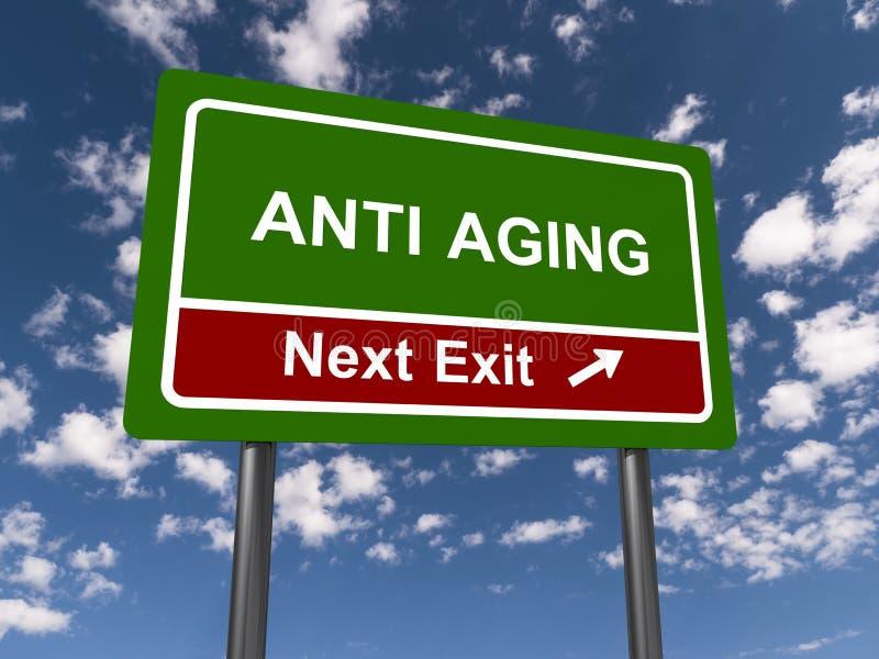 Segno antinvecchiamento illustrazione di stock