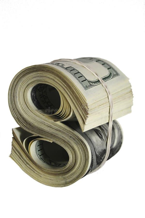 Segno astratto del dollaro immagini stock libere da diritti