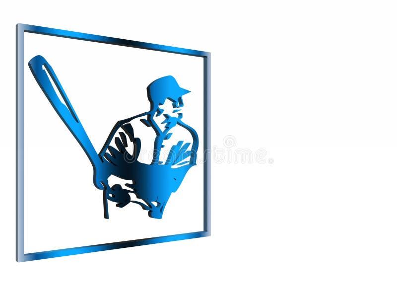 Segno attento, simbolo, baseball. illustrazione vettoriale