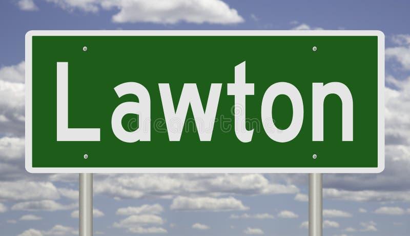 Segno autostradale per Lawton fotografia stock