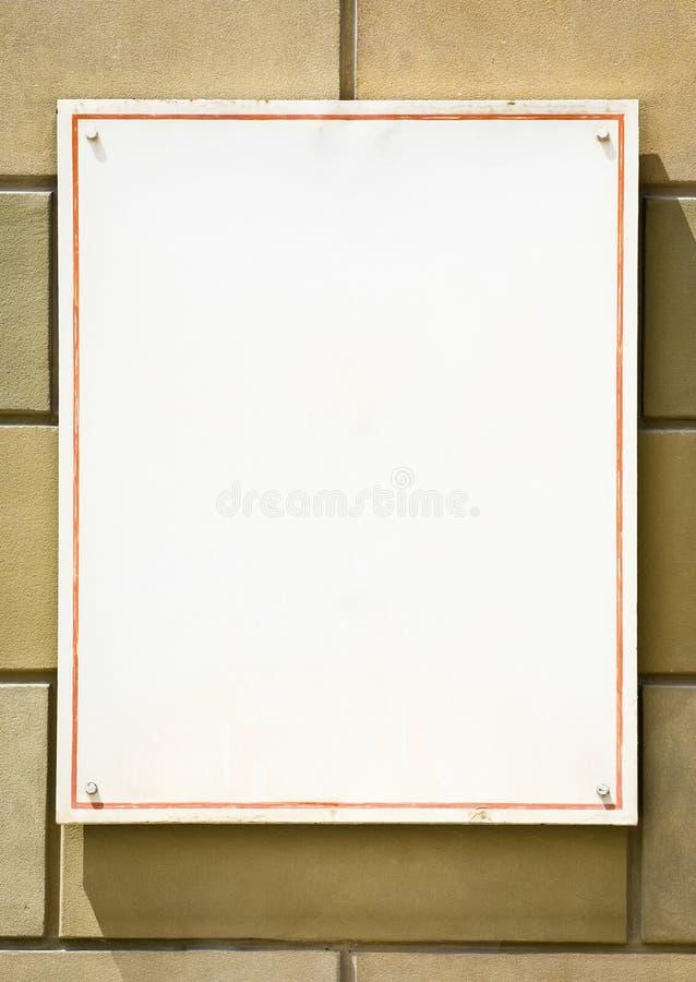 Segno in bianco fotografia stock libera da diritti