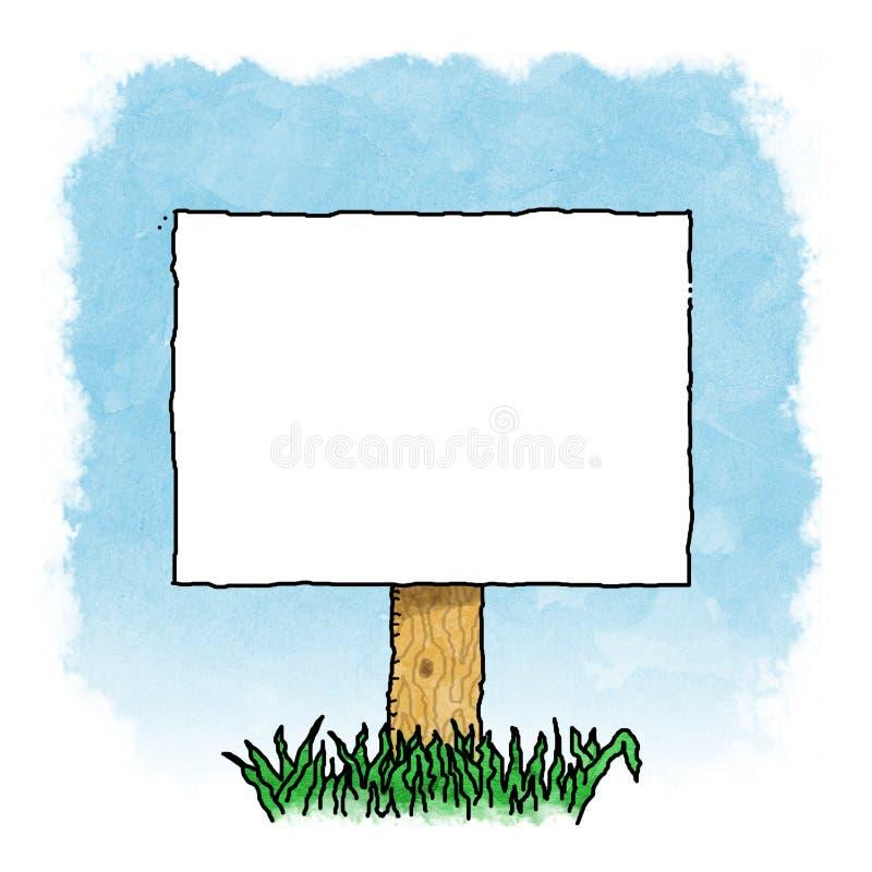 Segno in bianco illustrazione di stock