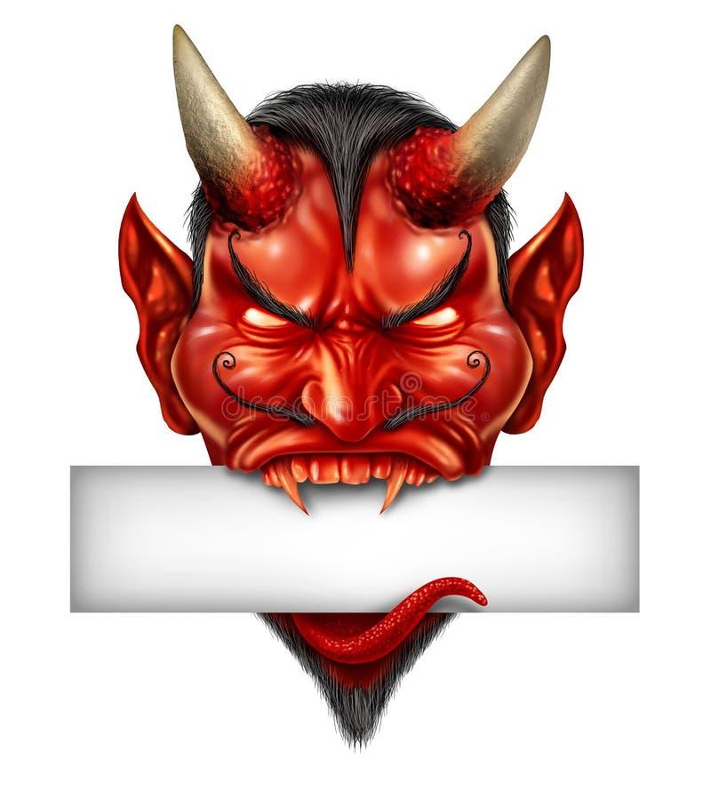 Segno in bianco capo del diavolo royalty illustrazione gratis