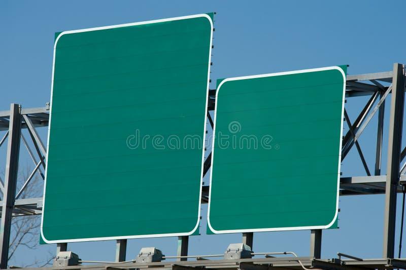 Segno in bianco della strada principale fotografia stock libera da diritti
