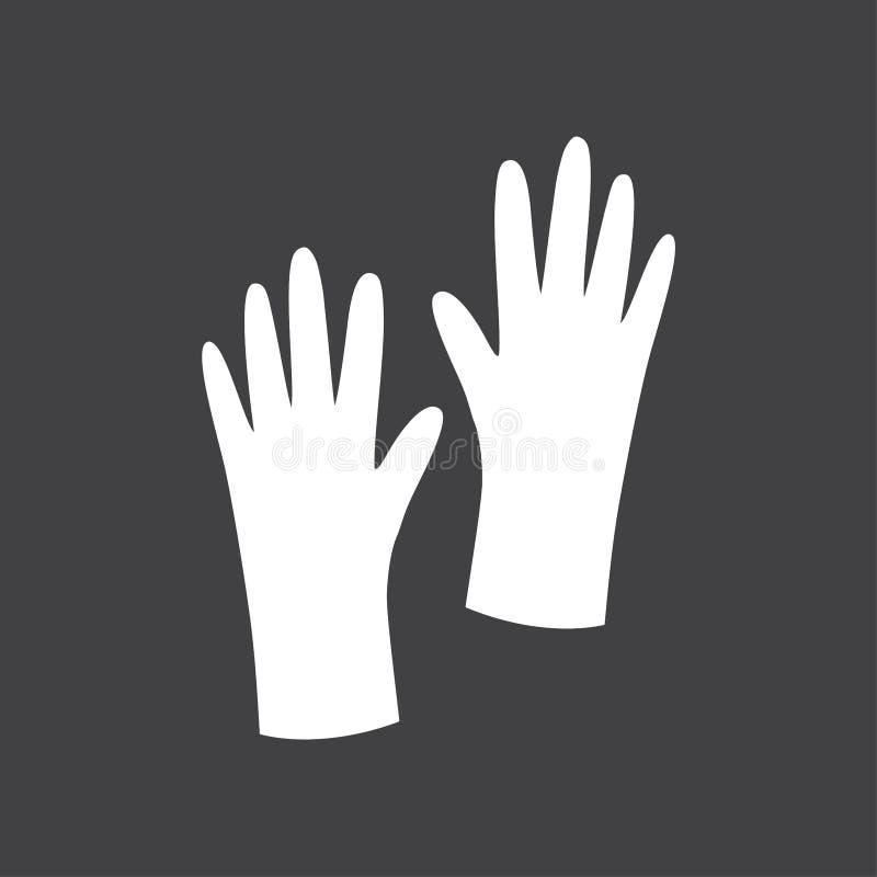Segno in bianco e nero dei guanti royalty illustrazione gratis