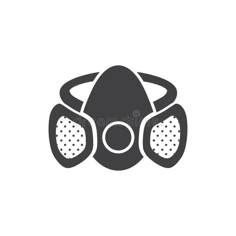 Segno in bianco e nero della maschera illustrazione di stock