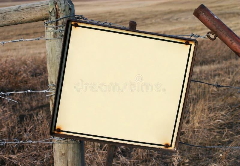 Segno in bianco - primo piano fotografia stock libera da diritti