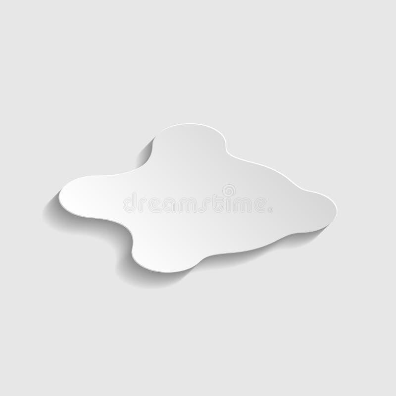 Segno BLOB di input penna Icona stile carta Illustrazione royalty illustrazione gratis