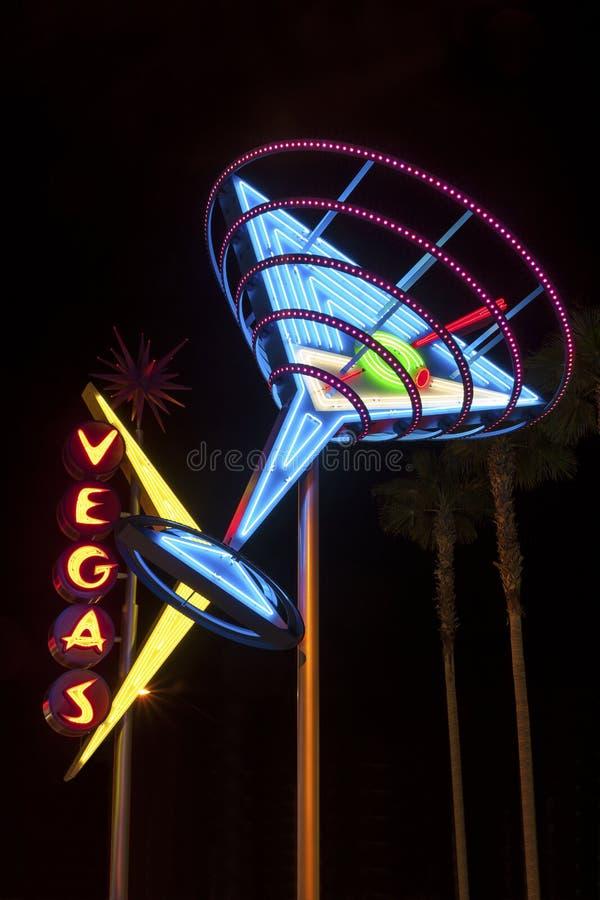 Segno brillante di Vegas fotografie stock