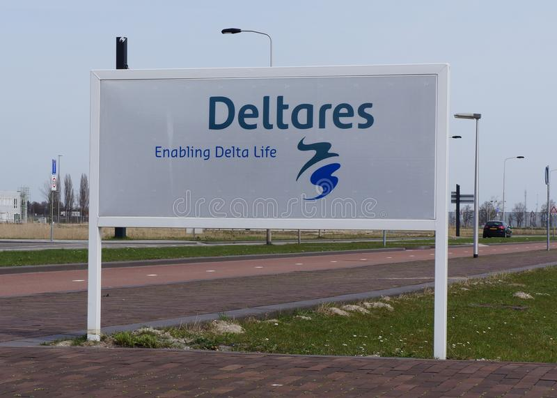 Segno con il nome ed il logo di Deltares immagini stock libere da diritti