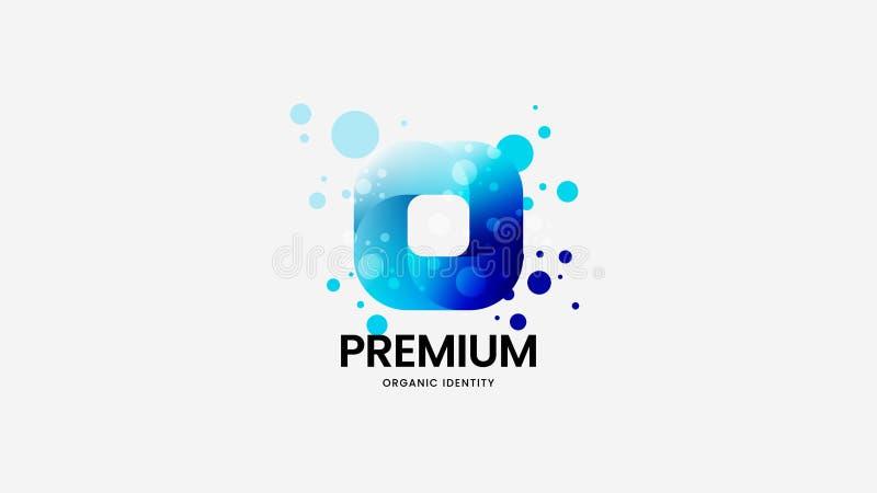 Segno corporativo di logo di vettore organico astratto Insieme multicolore dell'illustrazione dell'emblema del logotype Pacco nat illustrazione vettoriale