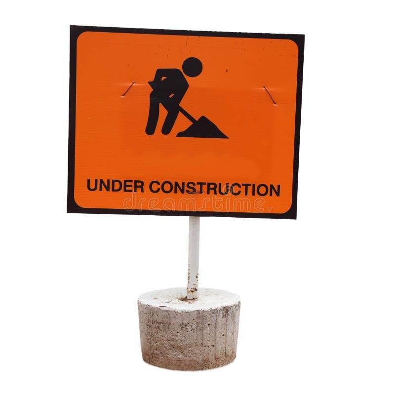 Download Segno in costruzione fotografia stock. Immagine di ricondizioni - 55359908