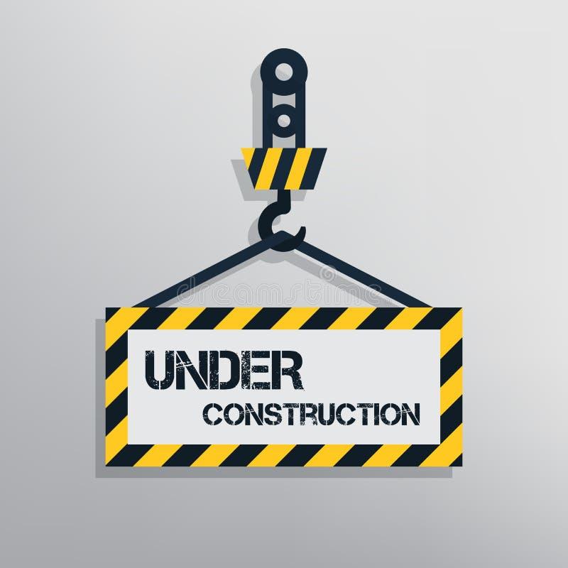 Segno in costruzione illustrazione vettoriale