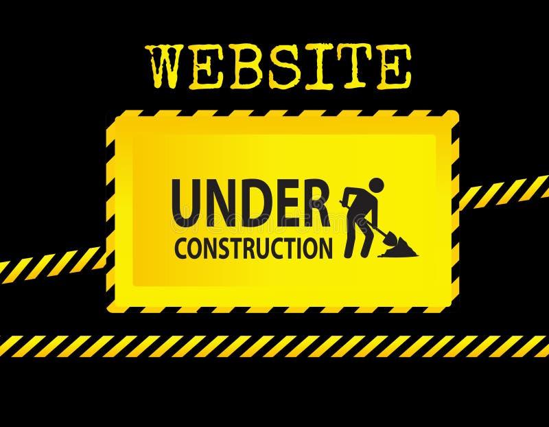 Segno in costruzione del sito Web illustrazione vettoriale