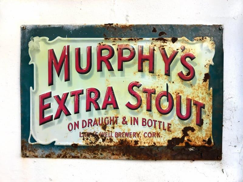 Segno d'annata della birra fotografia stock