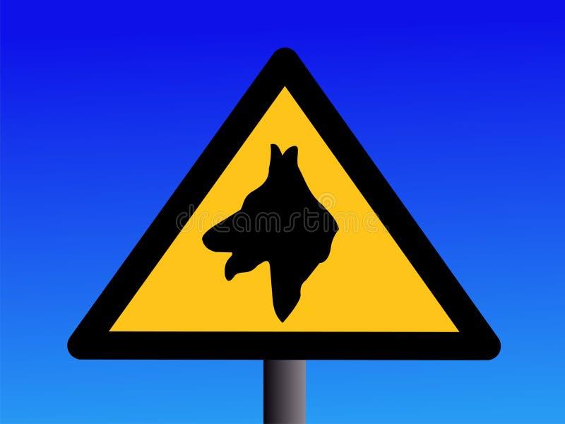 Segno d'avvertimento del cane da guardia illustrazione di stock