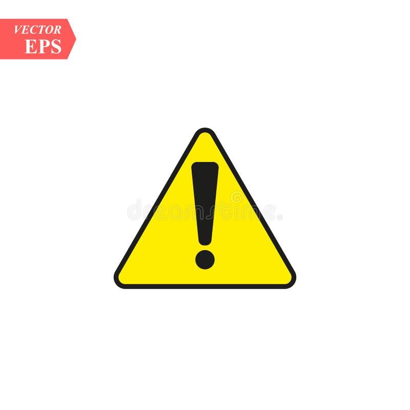 Segno d'avvertimento di attenzione di rischio nero con il punto esclamativo su ENV bianco 10 royalty illustrazione gratis