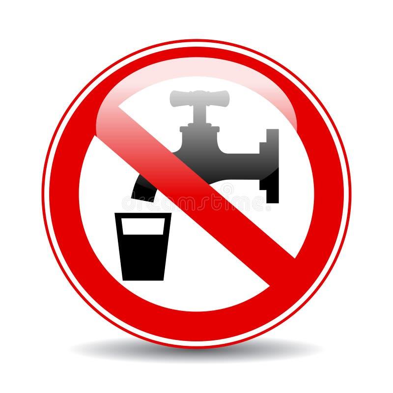 Segno d'avvertimento di vettore dell'acqua di Nonpotable illustrazione vettoriale