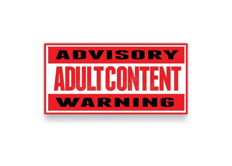 Segno degli adulti royalty illustrazione gratis