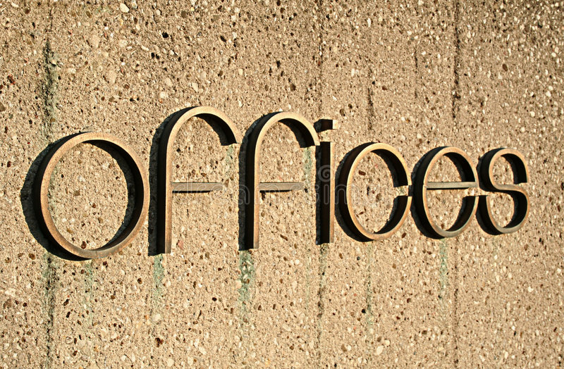 Segno degli uffici immagine stock