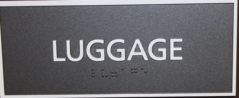 Segno dei bagagli fotografie stock