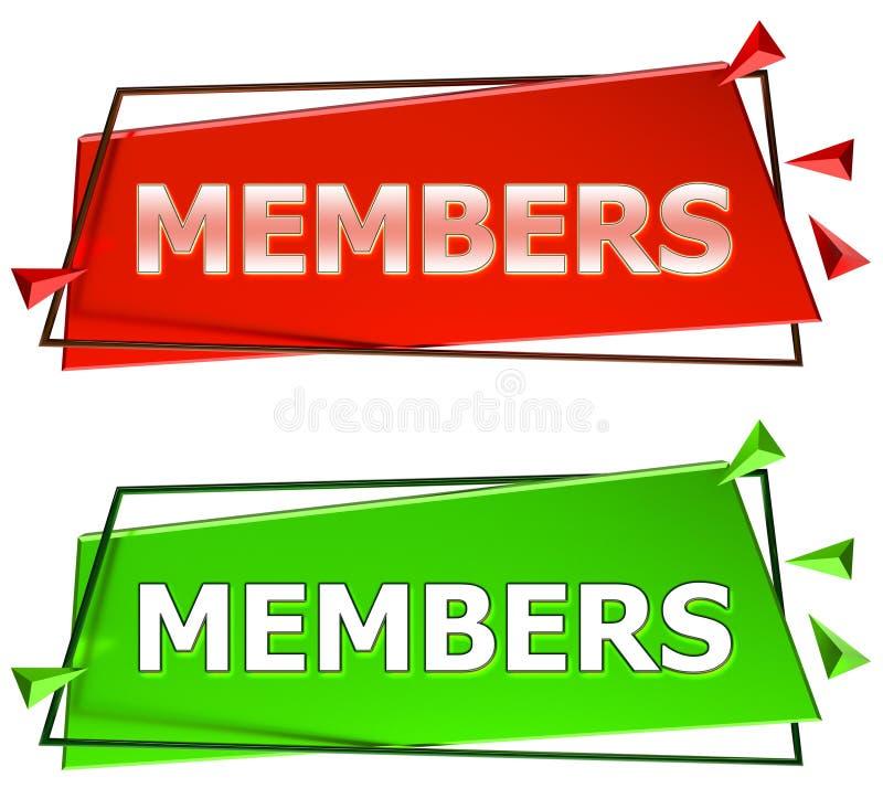 Segno dei membri illustrazione di stock
