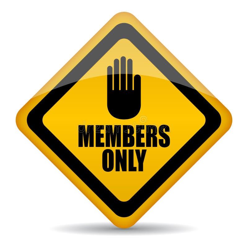 Segno dei membri soltanto illustrazione vettoriale