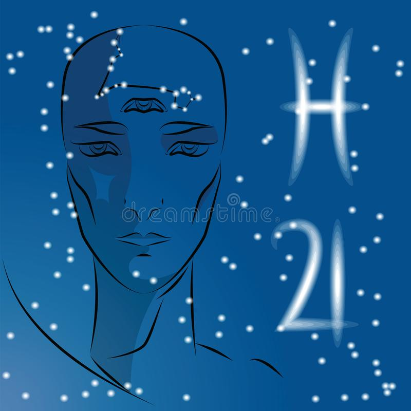 Segno dei pesci dello zodiaco royalty illustrazione gratis