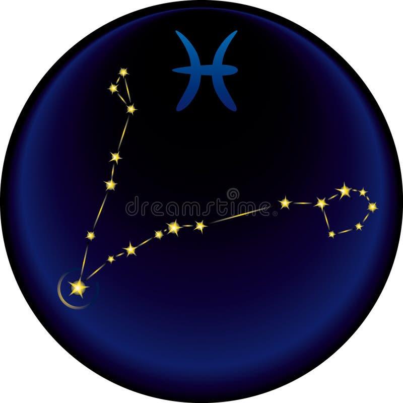 Segno dei Pisces dello zodiaco royalty illustrazione gratis
