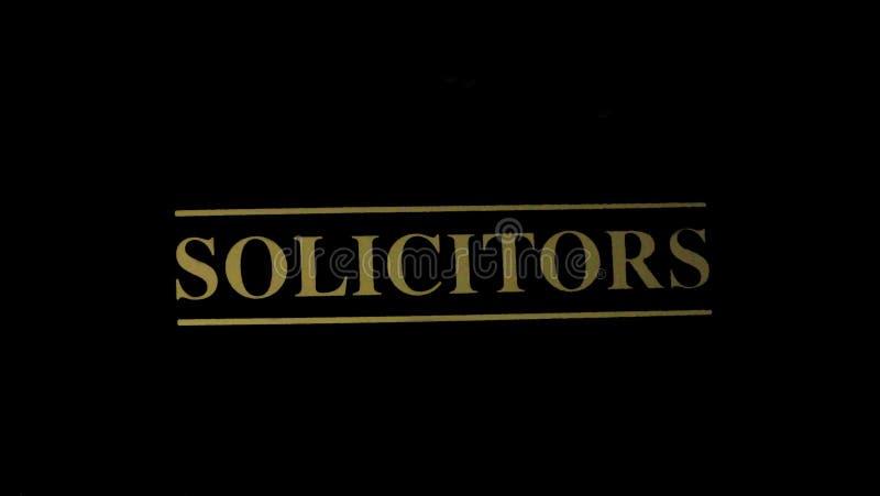 Segno dei procuratori legali fotografie stock