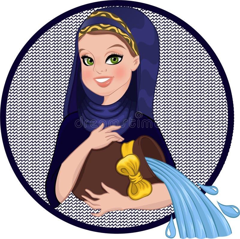 Segno del Aquarius royalty illustrazione gratis