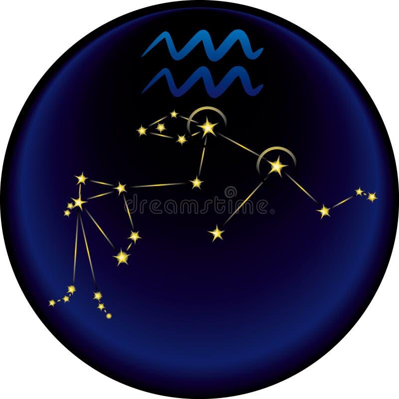 Segno del Aquarius dello zodiaco royalty illustrazione gratis