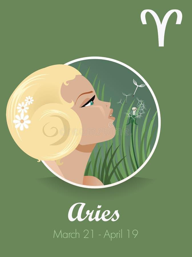 Segno del Aries illustrazione di stock
