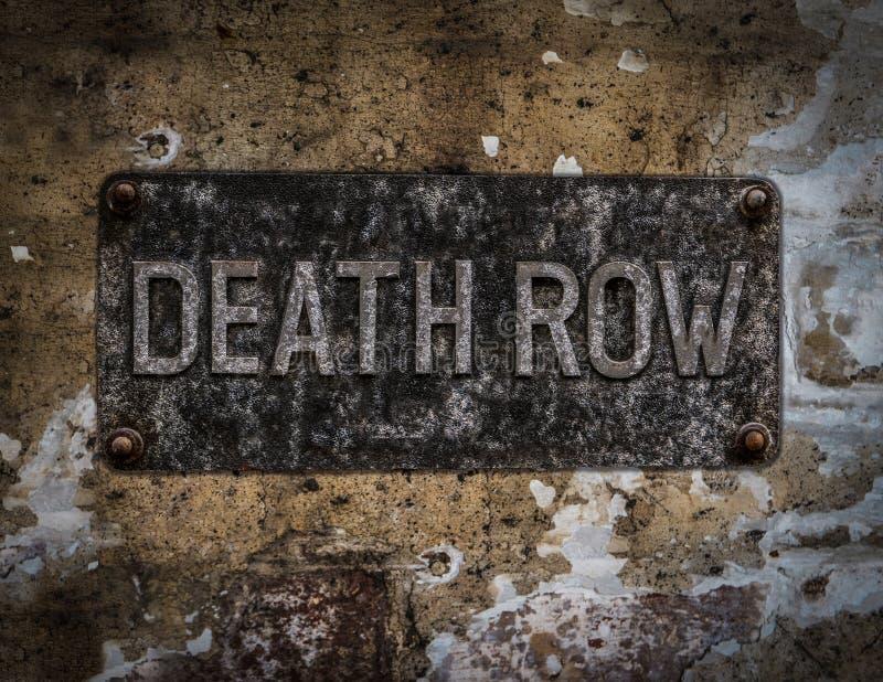 Segno del braccio della morte fotografia stock