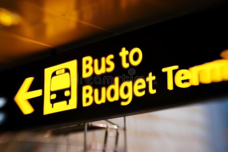 Segno del bus immagini stock