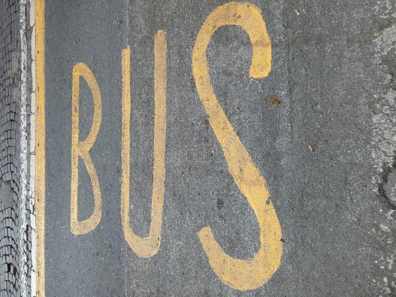 Segno del bus immagine stock libera da diritti