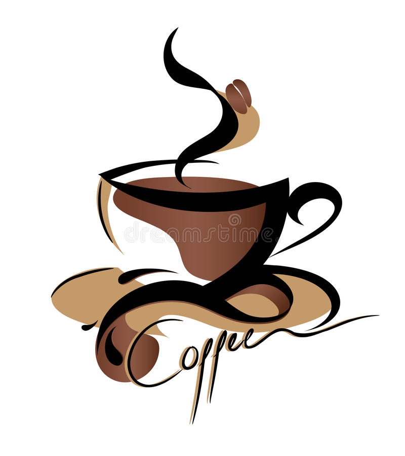 Segno del caffè illustrazione di stock