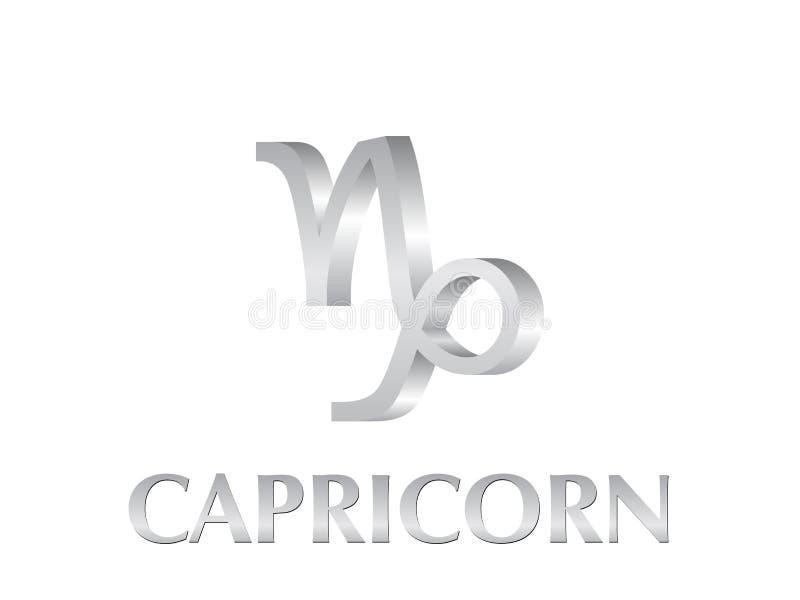 Segno del Capricorn illustrazione di stock