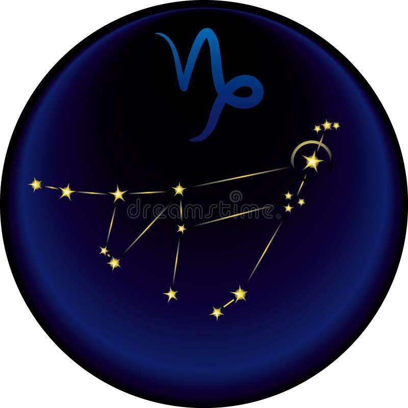 Segno del Capricorn dello zodiaco illustrazione di stock